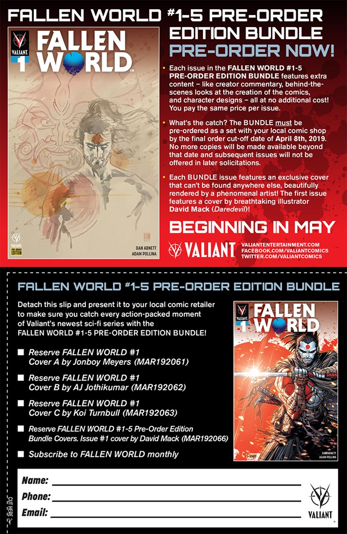 FallenWorld_coupon_web FALLEN WORLD #1 Glass Variant Cover is revealed
