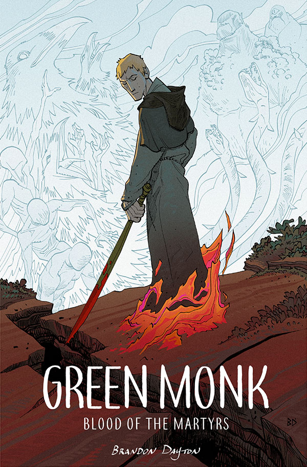 GreenMonk_cover_2x3 Young adult title GREEN MONK returns in original graphic novel