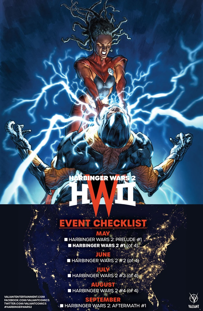 HW2_001_CHECKLIST First Look at Valiant Entertainment's HARBINGER WARS 2 #1