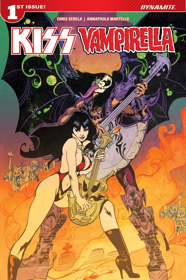 KissVampiCovCCastro Rock 'n roll legends KISS meet horror comics icon VAMPIRELLA