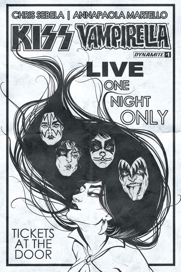 KissVampiCovGIncenIdheBW Rock 'n roll legends KISS meet horror comics icon VAMPIRELLA