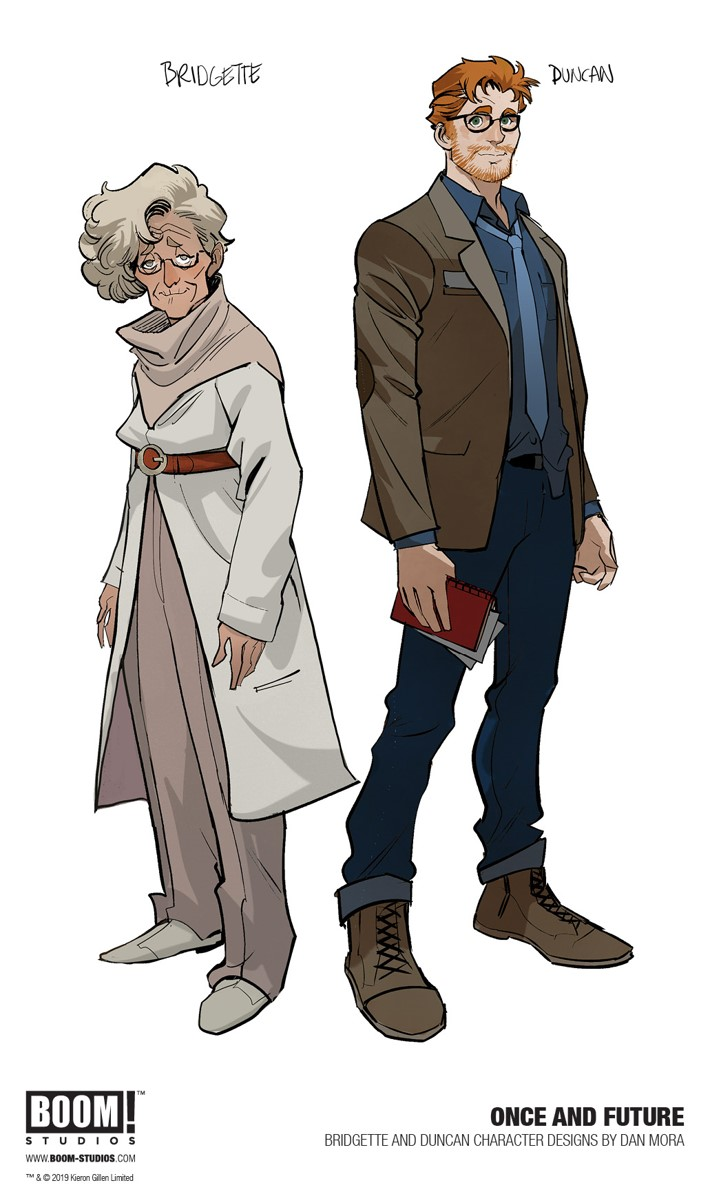 OnceAndFuture_001_CharacterDesign_PROMO Kieron Gillen's ONCE AND FUTURE debuts August 2019