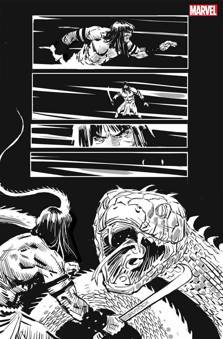 SSCONAN004 Conan's THE CULT OF KOGA THUN returns in black and white