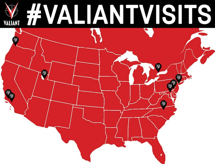 VALIANT_VISITS Valiant reaches out to fans and retailers with #ValiantVisits