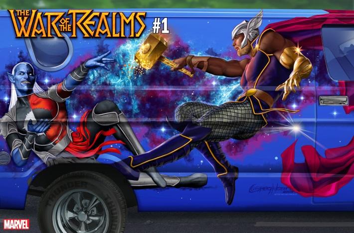 WAROFREALMS_HORN_SIDE_VAN_VAR Marvel unleashes a Greg Horn WAR OF THE REALMS #1 Van art cover