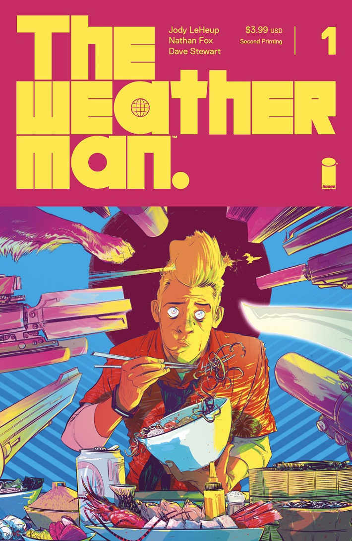 WM002_Fox_cov_2nd_Prntg THE WEATHERMAN #1 2nd printing is a ray of sunshine on a cloudy day