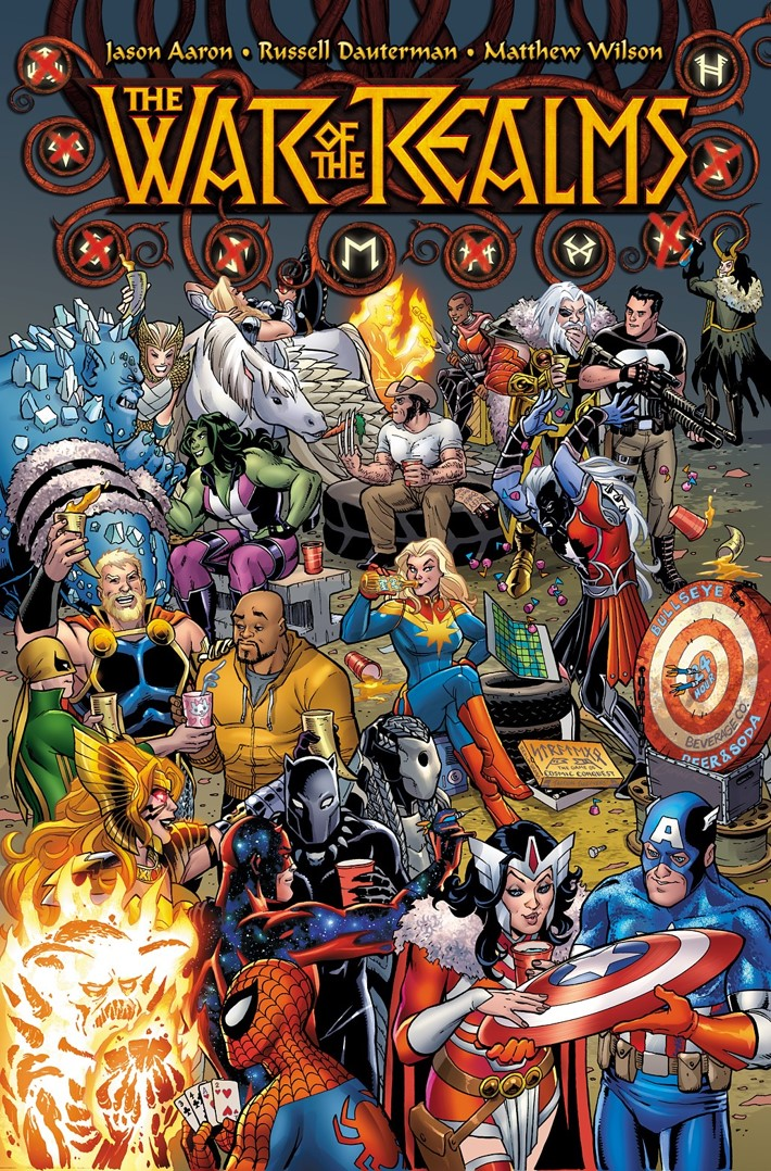 WOTR_001_PARTY_VAR_CONNER Amanda Conner concocts a WAR OF THE REALMS #1 variant