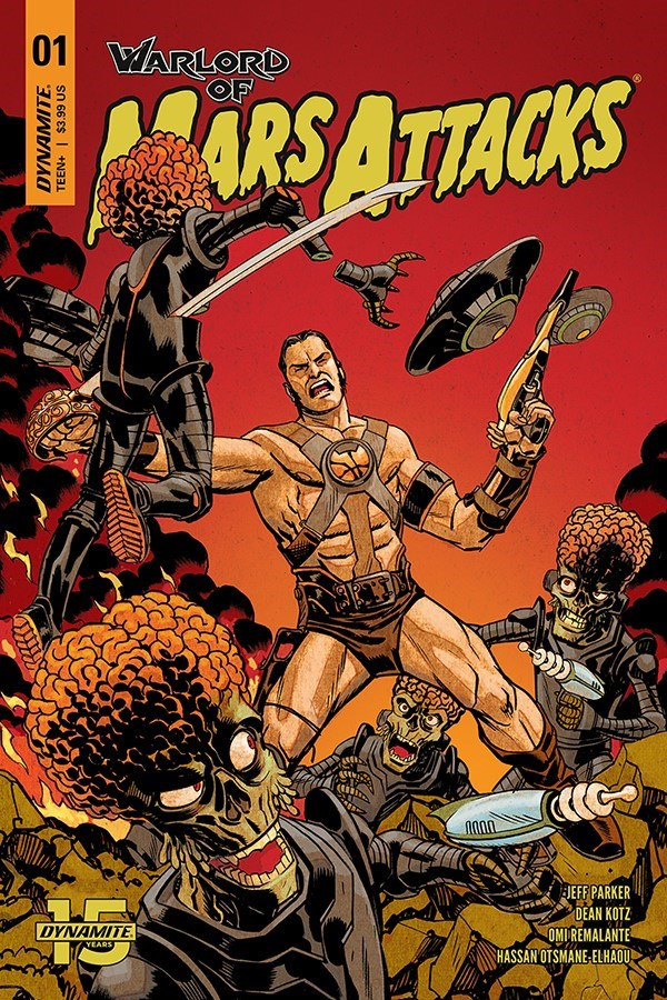 WoMarsAttacks-001-01011-A-Johnson WARLORD OF MARS ATTACKS to feature Martian on Martian violence