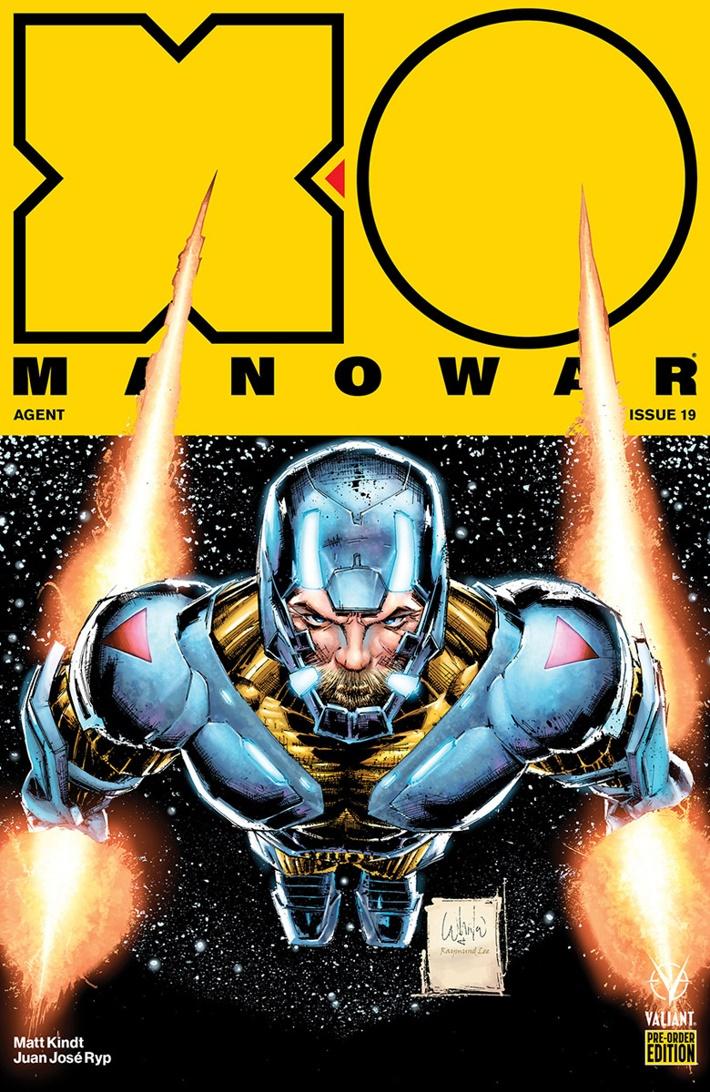XO2017_019_PRE-ORDER_PORTACIO X-O MANOWAR #19-22 PRE-ORDER EDITION BUNDLE features AGENT storyline