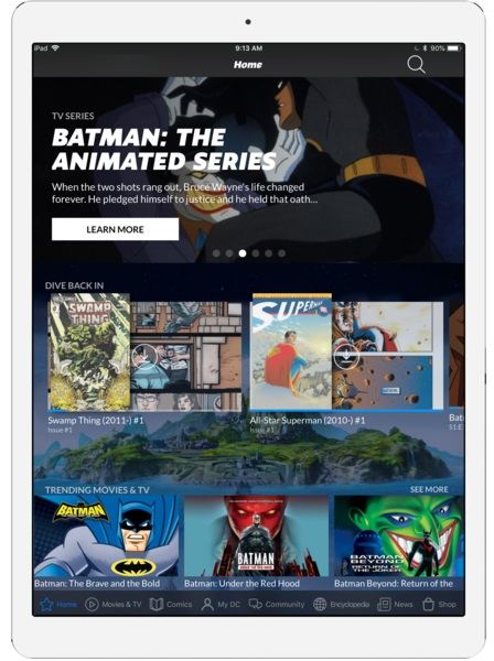 ipad-pro-screens_PortraitHome_5b9bc5b70b6fd4.72621824 The DC UNIVERSE digital subscription service celebrates Batman