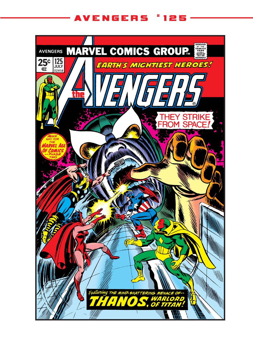 06_The-Avengers125_Cover ComicList Previews: MARVEL COMICS DIGEST #6 (AVENGERS VS THANOS)