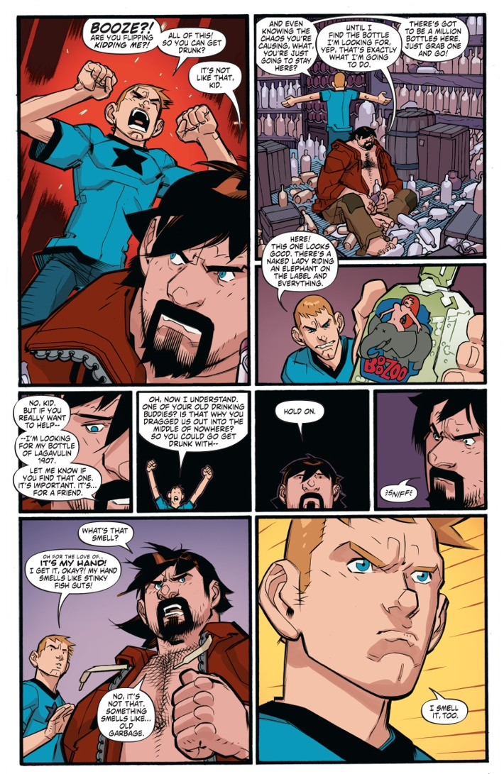 AA_HC_01_002 ComicList Previews: A&A THE ADVENTURES OF ARCHER AND ARMSTRONG DELUXE EDITION HC