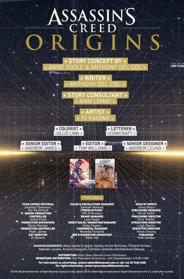 Assassins_Creed_Origins_2_Credits ComicList Previews: ASSASSIN'S CREED ORIGINS #2