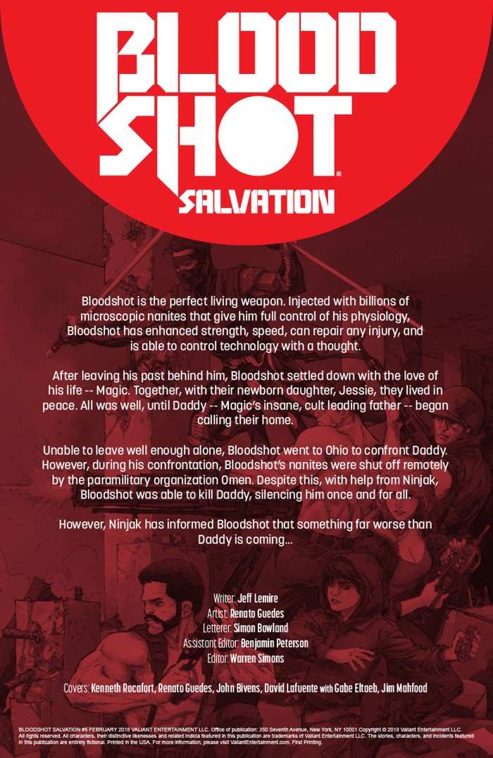 BSS_006_001 ComicList Previews: BLOODSHOT SALVATION #6