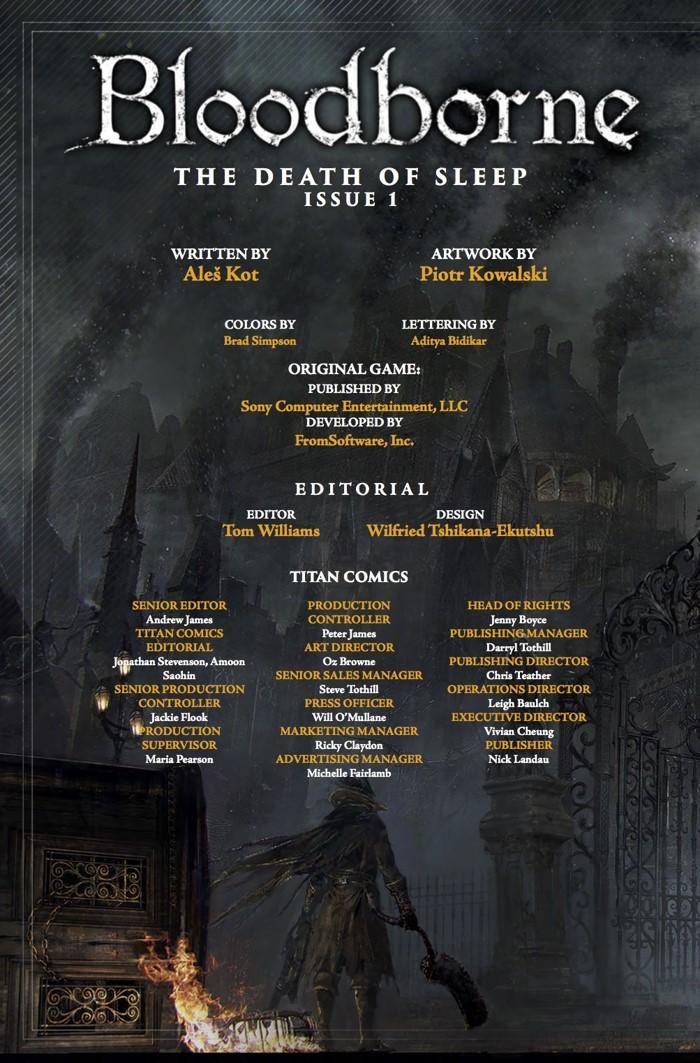 Bloodborne_1_Credits ComicList Previews: BLOODBORNE #1