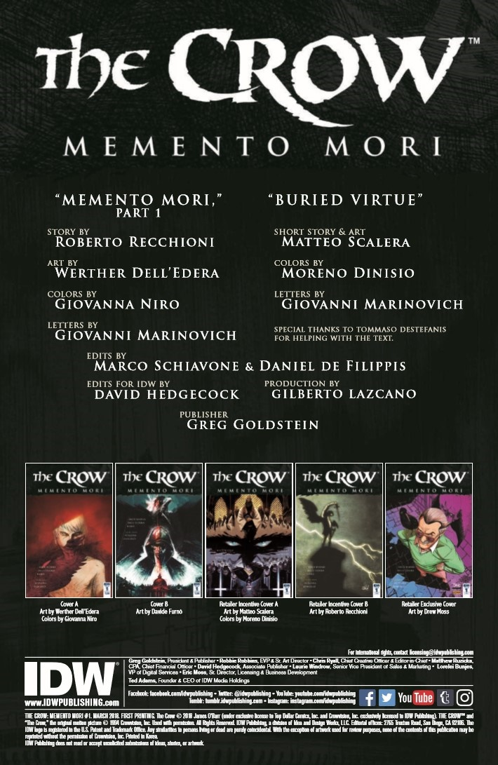 Crow_MM_01-pr-2 ComicList Previews: THE CROW MEMENTO MORI #1