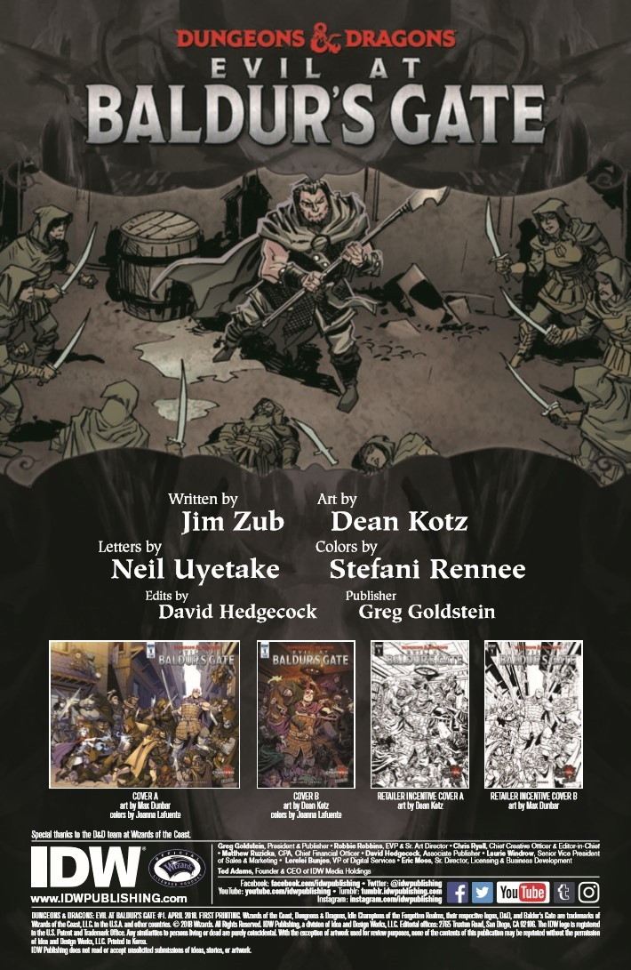 D&D_Baldur_01-pr-2 ComicList Previews: DUNGEONS AND DRAGONS EVIL AT BALDUR'S GATE #1