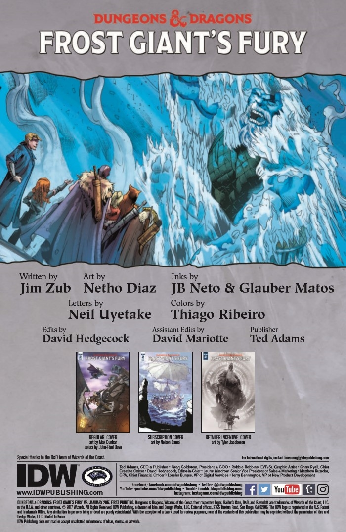 DD_FGF_02-pr-2 ComicList Preview: DUNGEONS AND DRAGONS FROST GIANT'S FURY #2