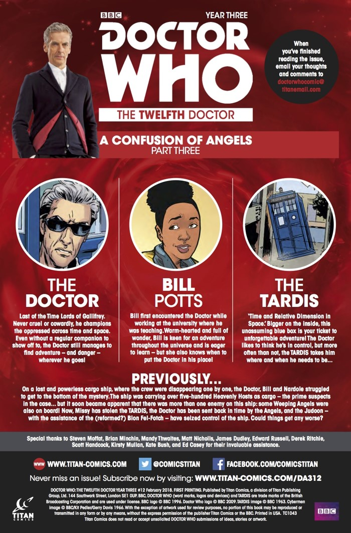 Doctor_Who_Twelfth_Doctor_3_12_Credits ComicList Previews: DOCTOR WHO THE TWELFTH DOCTOR YEAR THREE #12