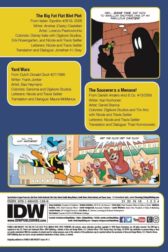 Donald&Mickey_BigFlatBlotPlot-pr-2 ComicList Previews: DONALD AND MICKEY THE BIG FAT FLAT BLOT PLOT TP