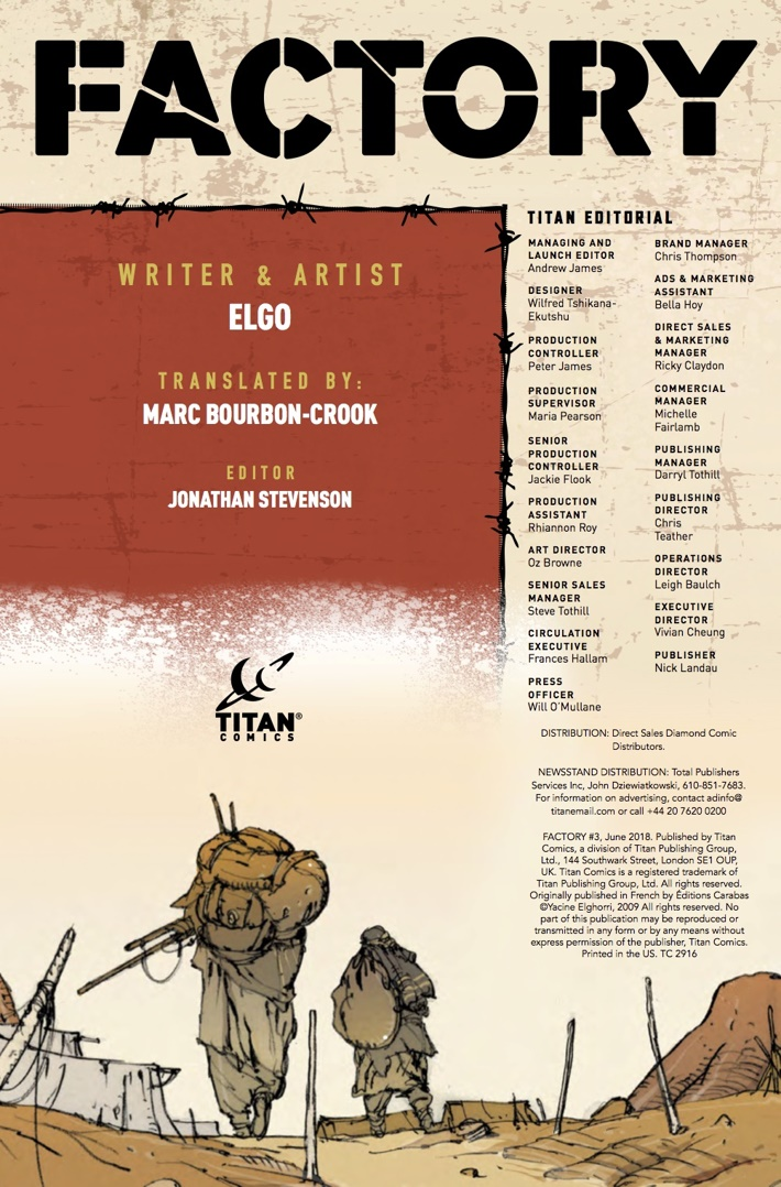 Factory_3_Credits ComicList Previews: FACTORY #3