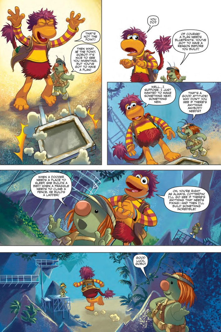 FraggleRock_Everspring_SC_PRESS_12 ComicList Previews: JIM HENSON'S FRAGGLE ROCK JOURNEY TO THE EVERSPRING GN