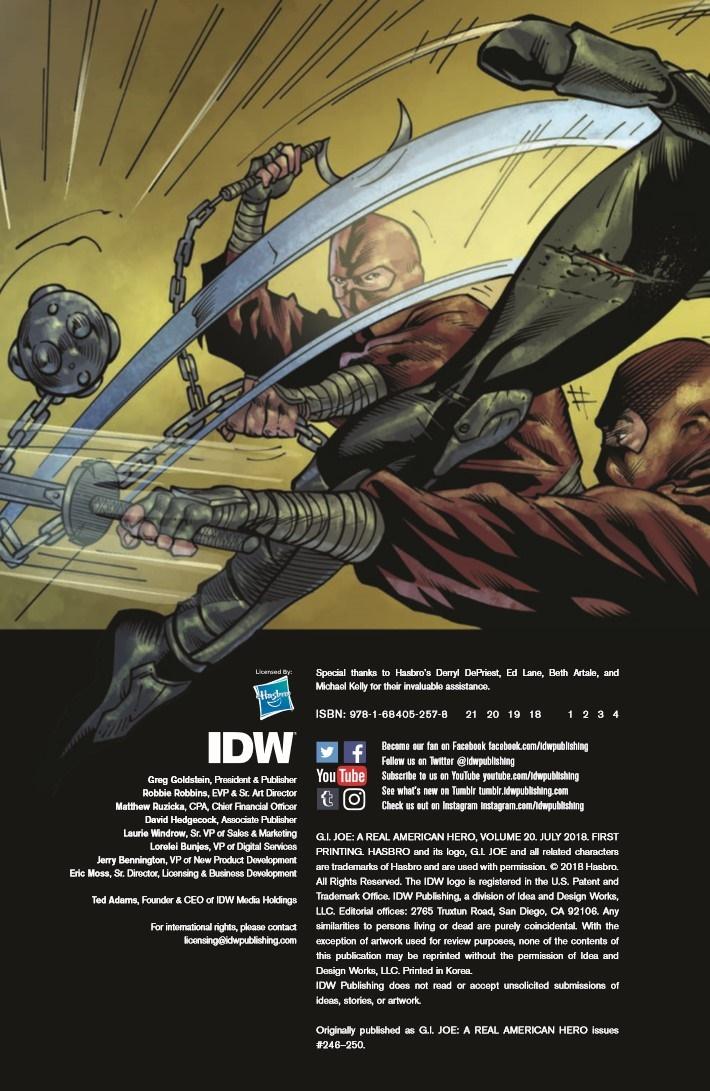 GIJoe_RealAmericanHero_Vol20-pr-2 ComicList Previews: G.I. JOE A REAL AMERICAN HERO VOLUME 20 TP
