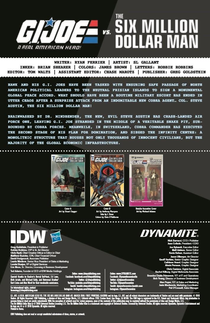 GIJoe_vs_6MilMan_02-pr-2 ComicList Previews: G.I. JOE A REAL AMERICAN HERO VS THE SIX MILLION DOLLAR MAN #2