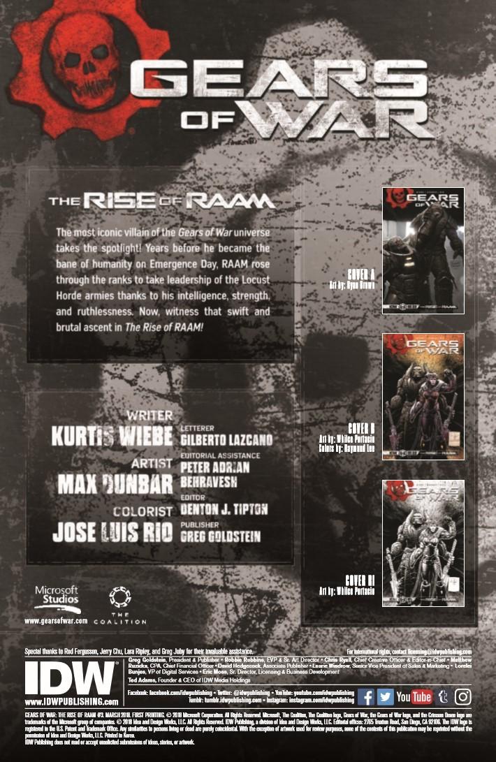 GearsofWar_03-pr-2 ComicList Previews: GEARS OF WAR THE RISE OF RAAM #3