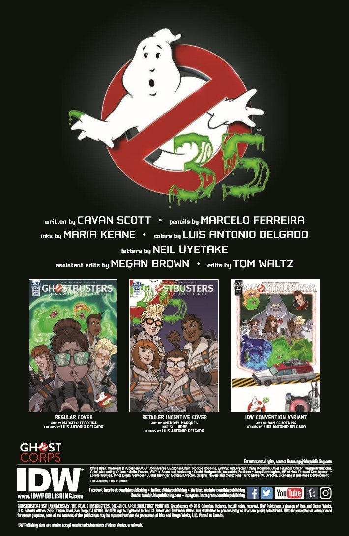 Ghostbusters_35th_Anniversary_Real-pr-2 ComicList Previews: GHOSTBUSTERS 35TH ANNIVERSARY REAL GHOSTBUSTERS #1
