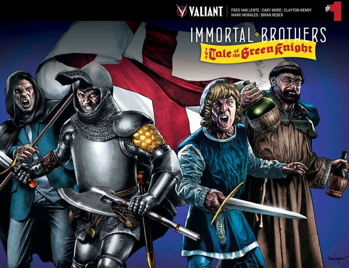 IMMORTAL_001_COVER-B-WRAPAROUND_SUAYAN ComicList Preview: IMMORTAL BROTHERS THE TALE OF THE GREEN KNIGHT #1