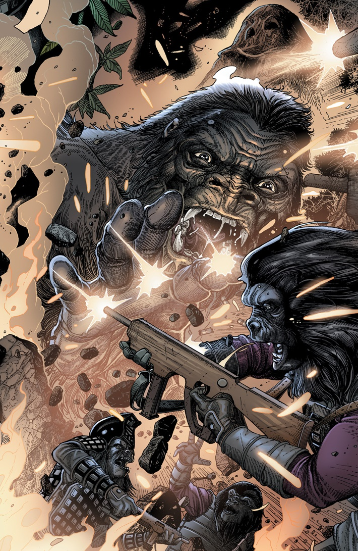 KongPOTA_006_B_Connecting ComicList Previews: KONG ON THE PLANET OF THE APES #6