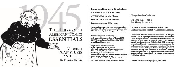 LOAC_Essentials_v11_Tippie-pr-2 ComicList Previews: LIBRARY OF AMERICAN COMICS ESSENTIALS VOLUME 11 TIPPIE 1945 HC