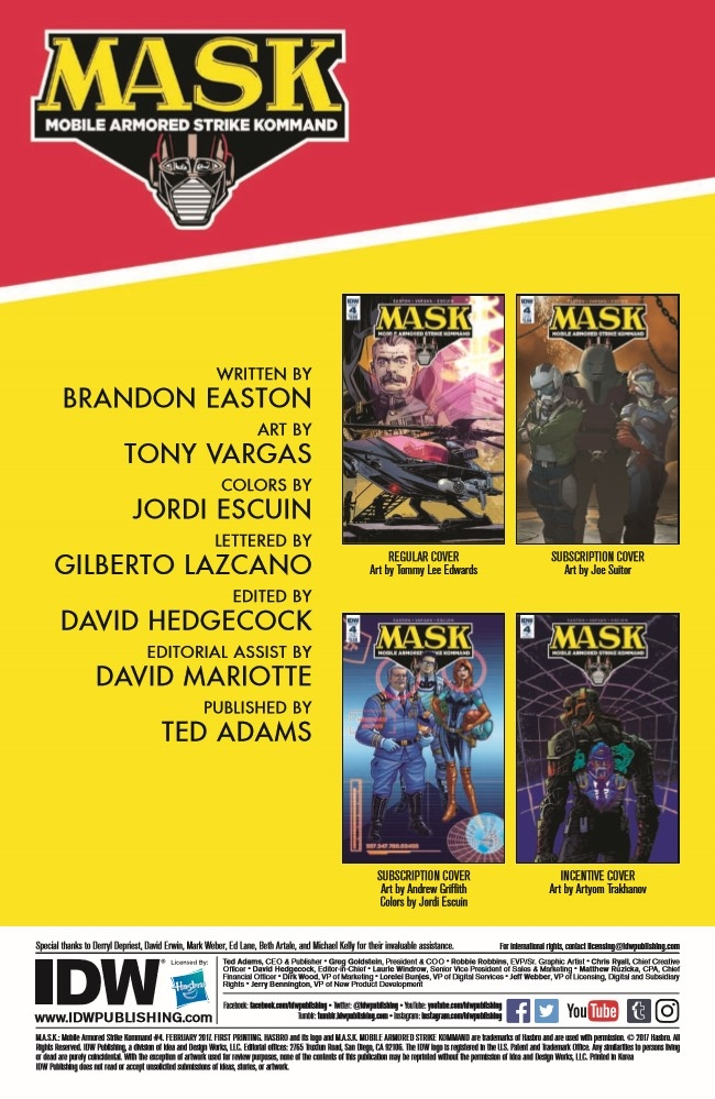 MASK_04-pr-2 ComicList Preview: M.A.S.K. MOBILE ARMORED STRIKE KOMMAND #4