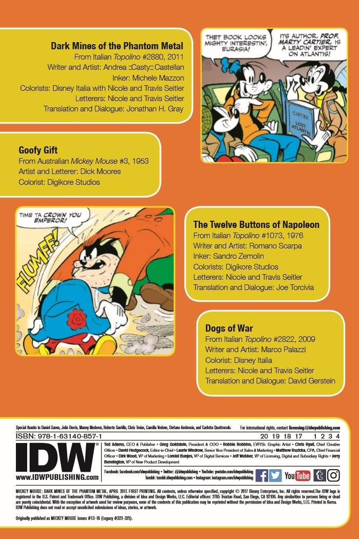 MM_DarkMines_TPB-pr-2 ComicList Preview: MICKEY MOUSE DARK MINES OF THE PHANTOM METAL TP
