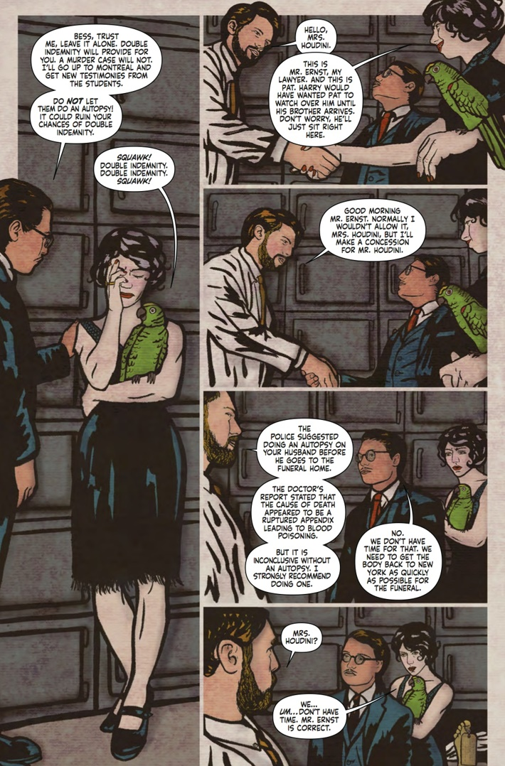 Minky_Woodcock_4_Pg3 ComicList Previews: MINKY WOODCOCK THE GIRL WHO HANDCUFFED HOUDINI #4
