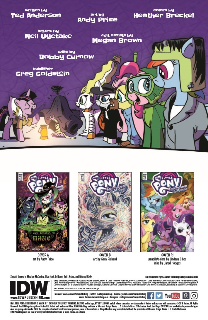 MyLittlePony_71-pr-2 ComicList Previews: MY LITTLE PONY FRIENDSHIP IS MAGIC #71