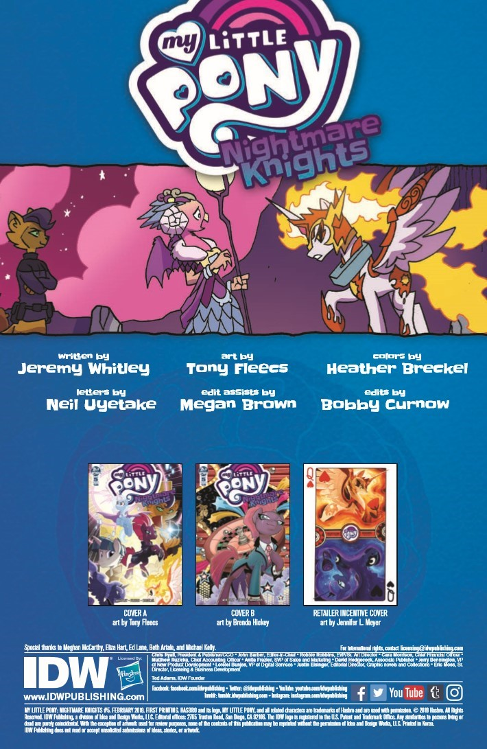 MyLittlePony_Nightmare_Knights_05-pr-2 ComicList Previews: MY LITTLE PONY NIGHTMARE KNIGHTS #5