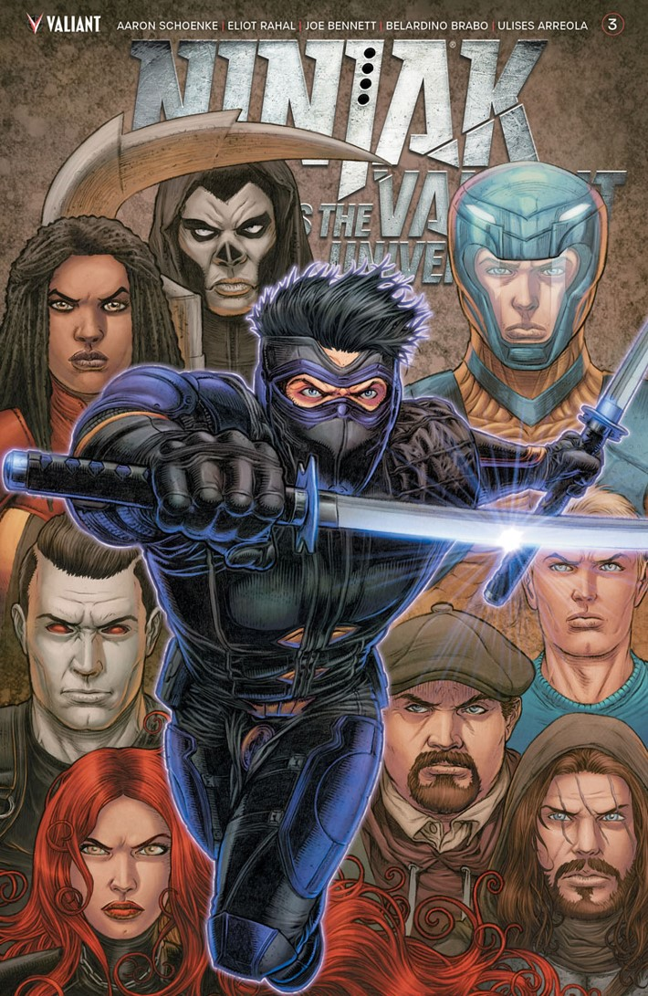 NJKVS_003_VARIANT_RYP ComicList Previews: NINJAK VS THE VALIANT UNIVERSE #3