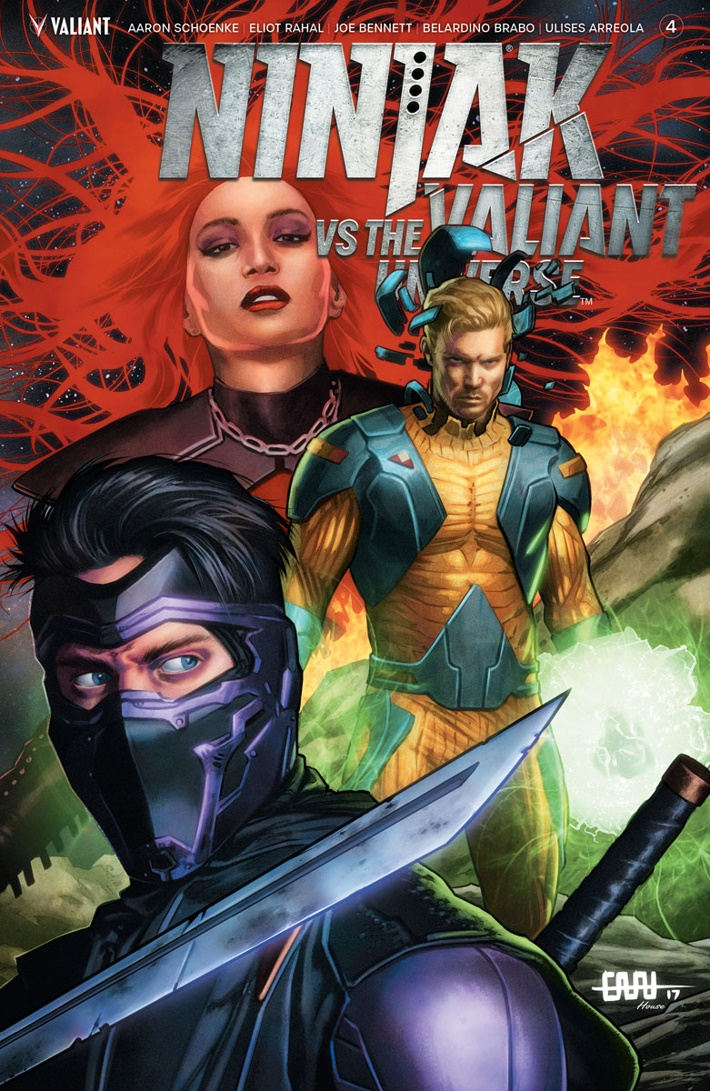 NJKVS_004_COVER-B_CAFU ComicList Previews: NINJAK VS THE VALIANT UNIVERSE #4