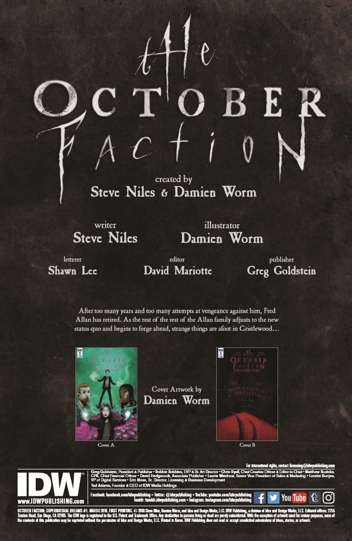 OctoberFaction_SuperDreams_01-pr-2 ComicList Previews: THE OCTOBER FACTION SUPERNATURAL DREAMS #1