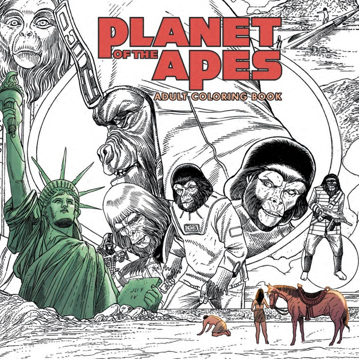 POTA_ColoringBook_PRESS_1 ComicList Previews: PLANET OF THE APES ADULT COLORING BOOK SC