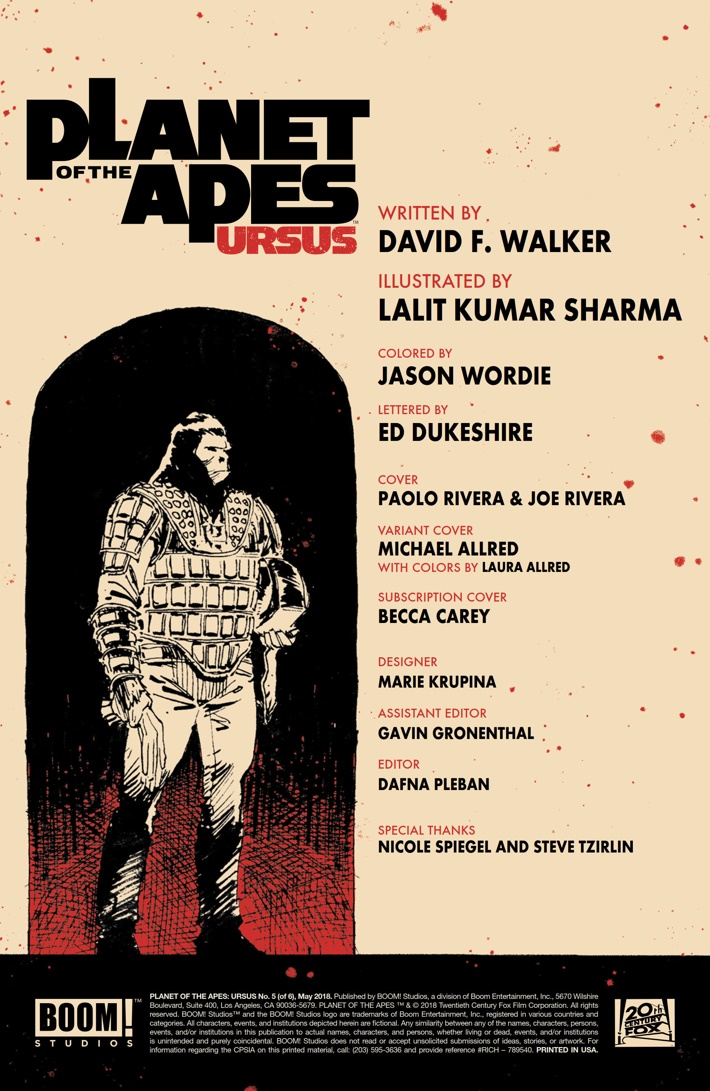 POTA_Ursus_005_PRESS_2 ComicList Previews: PLANET OF THE APES URSUS #5