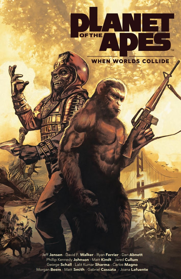 POTA_WhenWorldsCollide_PRESS_1 ComicList Previews: PLANET OF THE APES WHEN WORLDS COLLIDE SC
