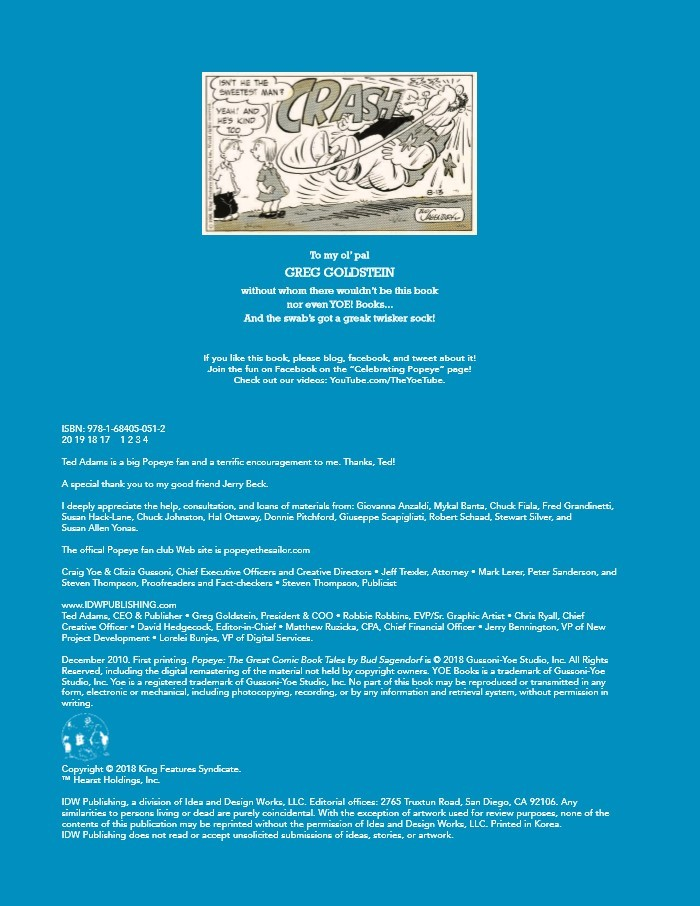 Popeye_GreatComicTales-pr-2 ComicList Previews: POPEYE THE GREAT COMIC BOOK TALES BY BUD SAGENDORF TP