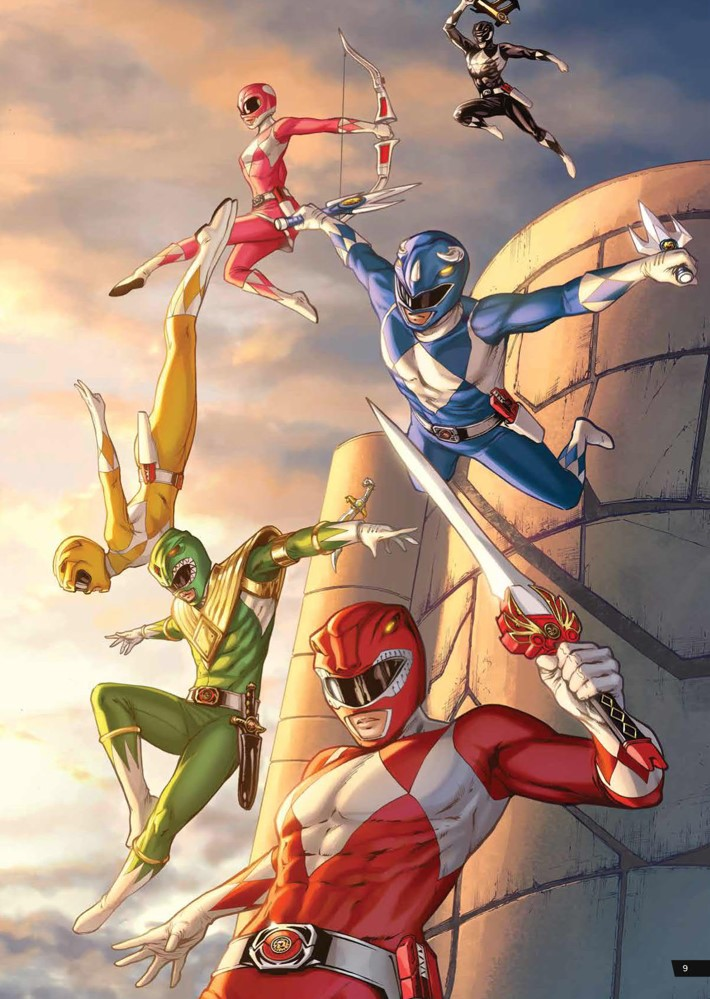 PowerRangers_ArtistTribute_HC_PRESS_11 ComicList Previews: SABAN'S POWER RANGERS ARTIST TRIBUTE HC