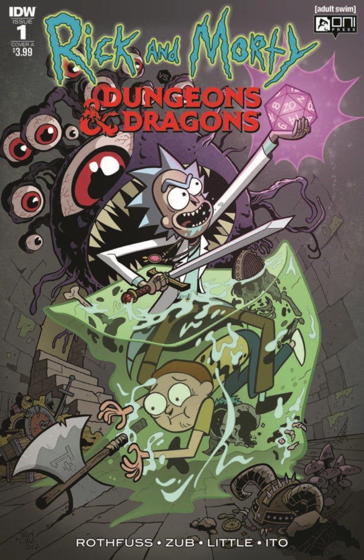 Rick_and_Morty_Dungeons_Dragons_01-pr-1 ComicList Previews: RICK AND MORTY VS DUNGEONS AND DRAGONS #1