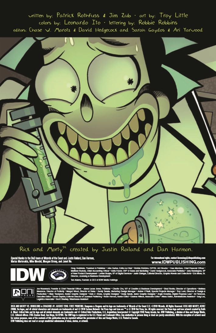 Rick_and_Morty_Dungeons_Dragons_01-pr-2 ComicList Previews: RICK AND MORTY VS DUNGEONS AND DRAGONS #1