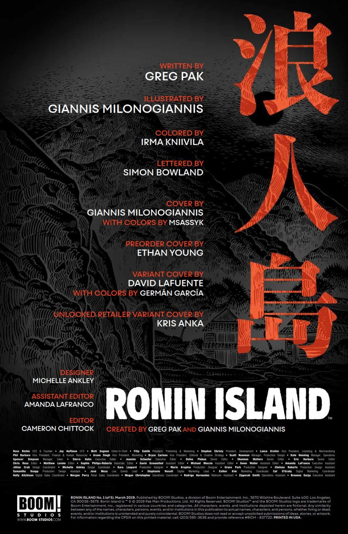 RoninIsland_001_PRESS_2 ComicList Previews: RONIN ISLAND #1