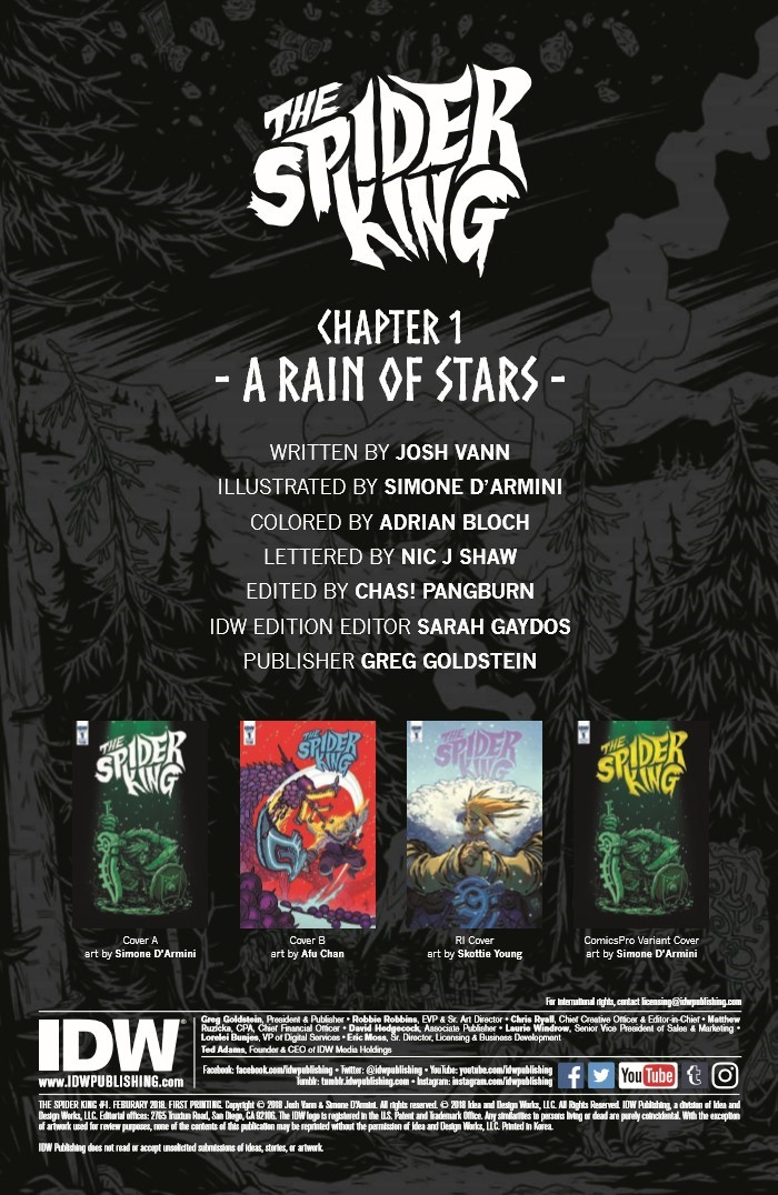 SpiderKing_01-pr-2 ComicList Previews: THE SPIDER KING #1